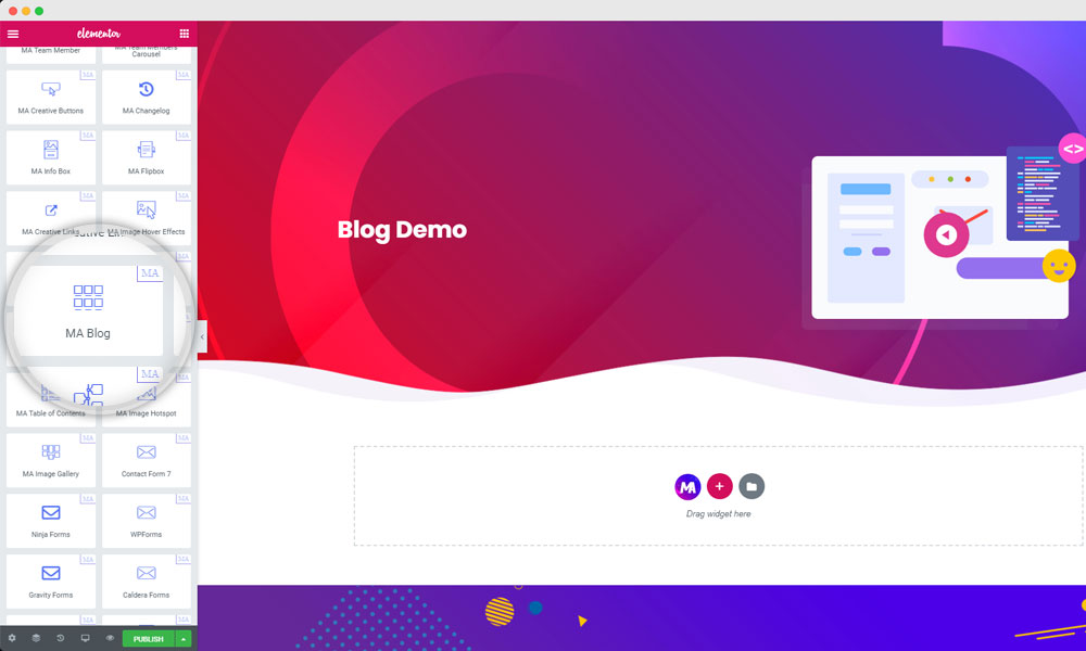 Master Addons blog element to create a blog page