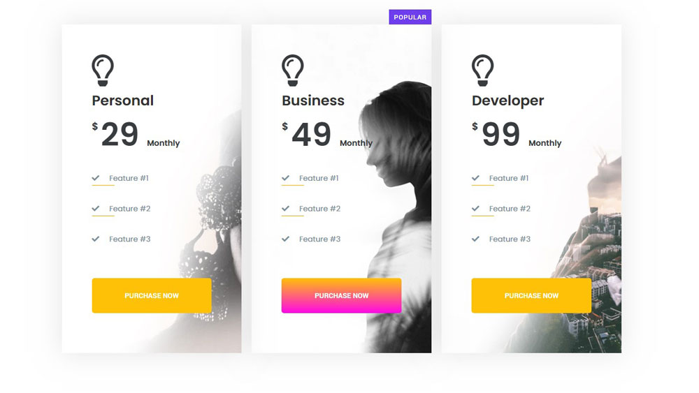 Free Elementor Pricing Table Widget for WordPress