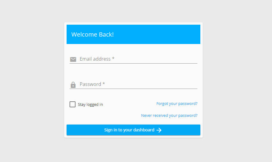 Login Master Addons Page