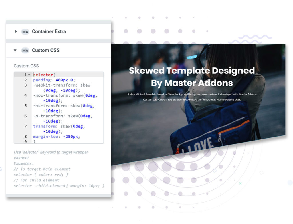 Custom CSS For Free Elementor Page Builder