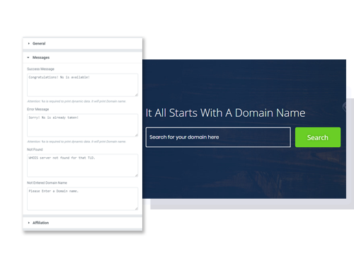 Domain Checker Element