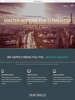 Corporate Landing Page For Elementor