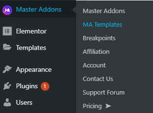 MA Templates by Master Addons