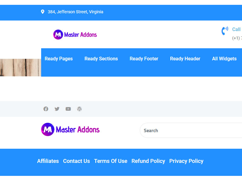 Header Template by Master Addons