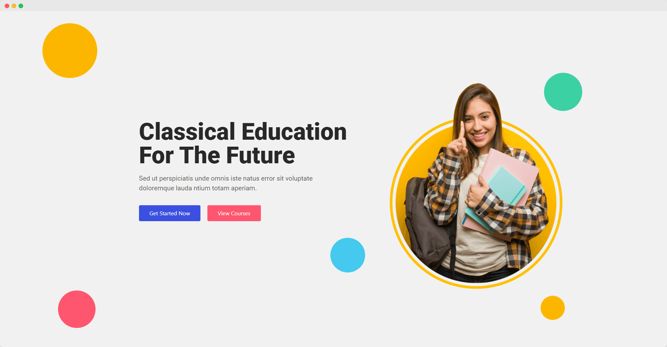 Education Hero Image Section